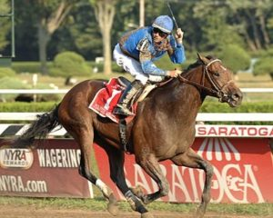 Majestic Warrior wins the 2007 G1 Hopeful Stakes at Saratoga